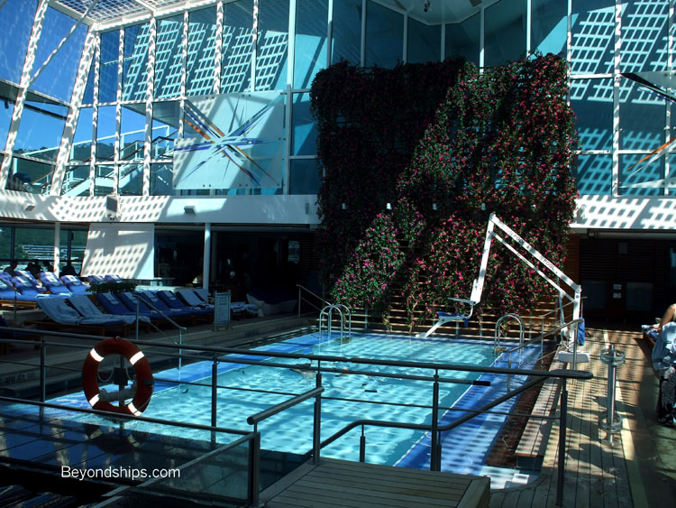 celebrity equinox tour pools and open decks