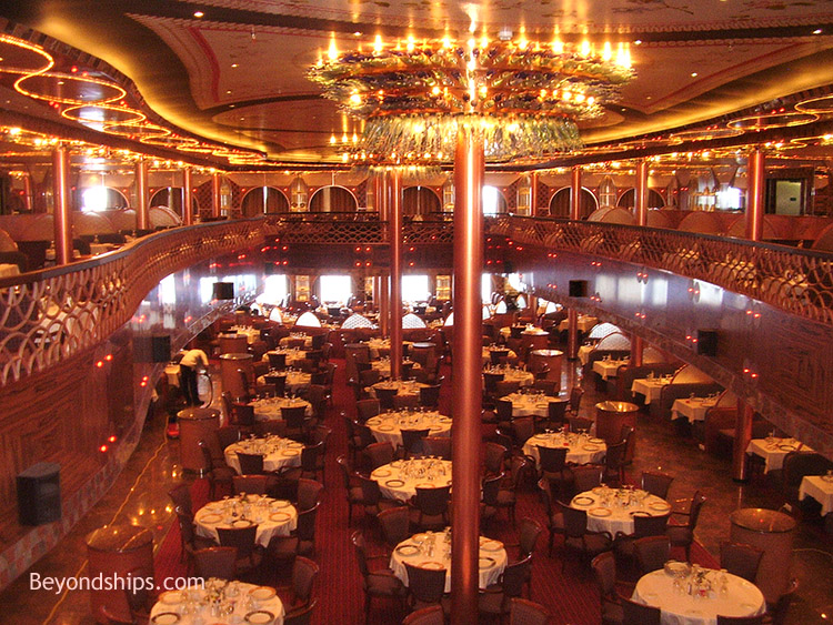 Carnival Freedom Dining Room Seating