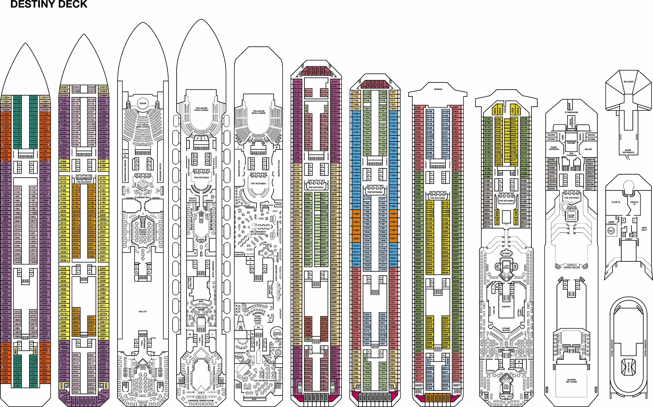 Carnival Destiny Deck Plans Page 3