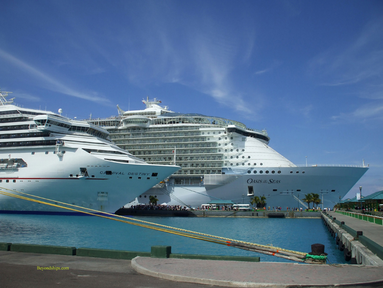 Photo Of Royal Caribbean Cruise Ship Oasis The Seas With Carnival Destiny