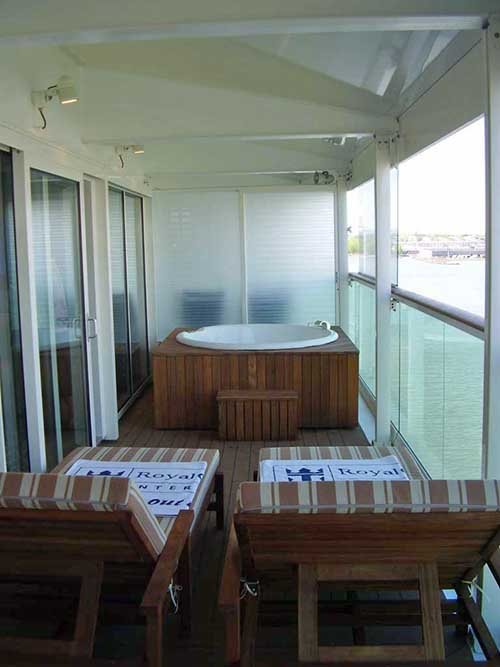 Liberty of the seas tour continued for Balcony hot tub