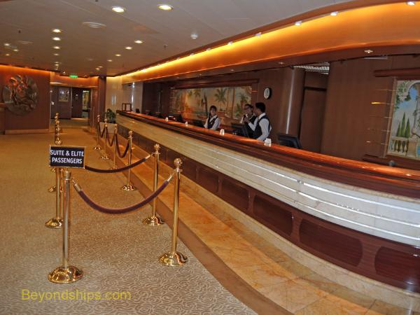 Cruise ship Sea Princess, passenger services desk