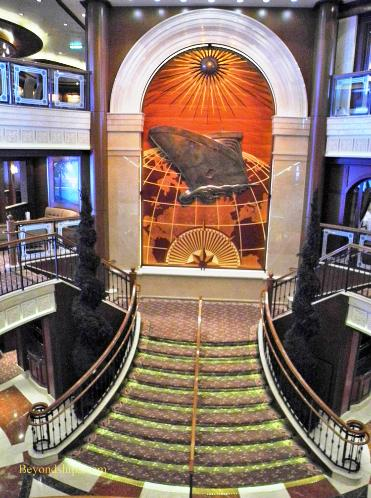 Cruise ship photo - Cunard Line - Queen Victoria - lobby stairs