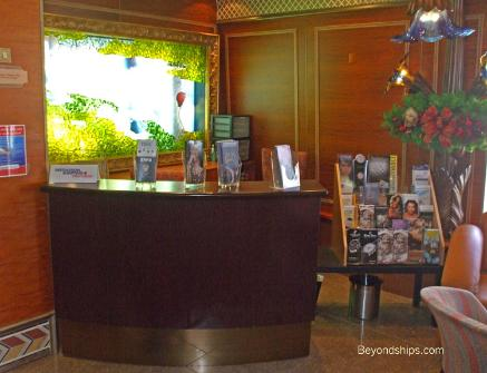Carnival Conquest shopping desk