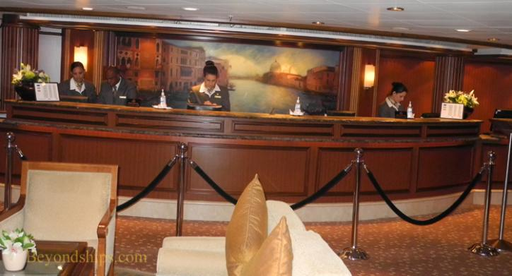 Cruise ship photo - Cunard Line - Queen Victoria - Purser's Office