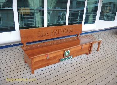 Sea Princess cruise ship, bench