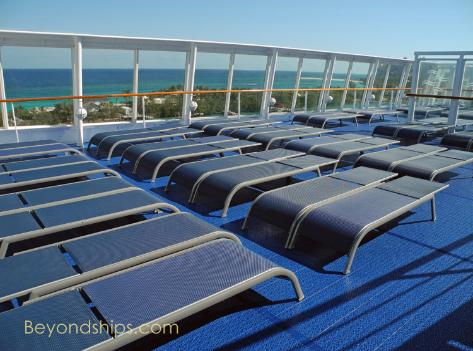 Norwegian Sky deck chairs
