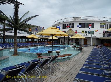 cruise ship Carnival Ecstasy pool deck