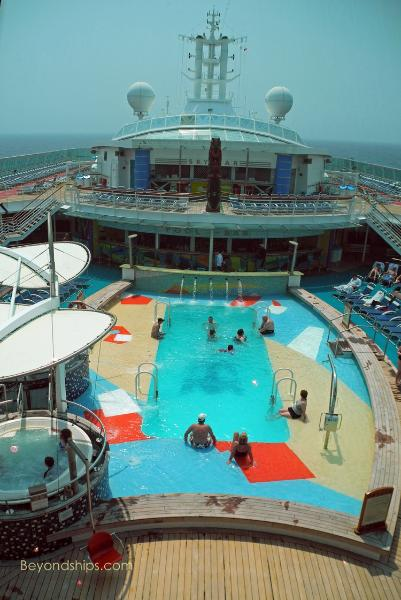 Radiance of the Seas - Photo Tour and Commentary - Pools, Spa