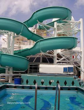 Carnival Destiny cruise ship waterslide