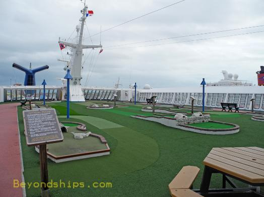 cruise ship Carnival Ecstasy mini-golf