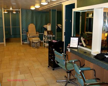 Qe2 photo tour and cruise ship commentary spa for Above and beyond beauty salon