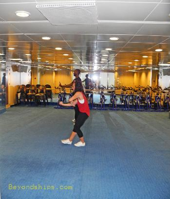 cruise ship Carnival Ecstasy fitness