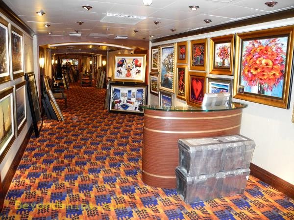cruise ship Carnival Ecstasy art gallery