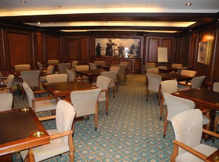 Cunard's cruise liner Queen Victoria - Card Room