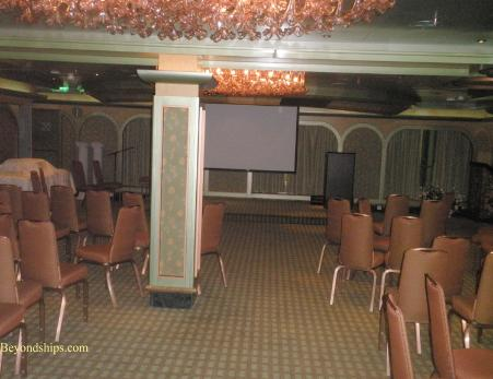 Cruise ship Carnival Glory conference room