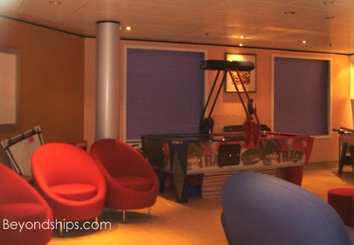 Cunard's cruise liner Queen Victoria - teens' area