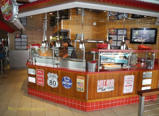 Carnival Glory cruise ship Guy's Burger Joint