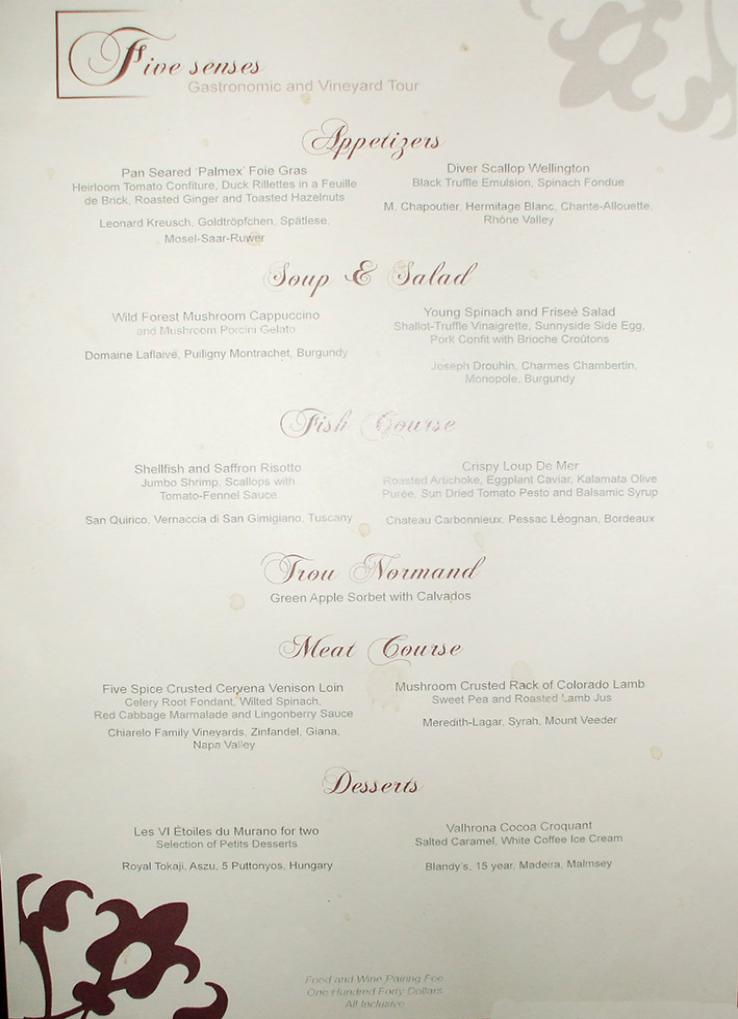 Celebrity Silhouette Menu - Cruise With Gambee