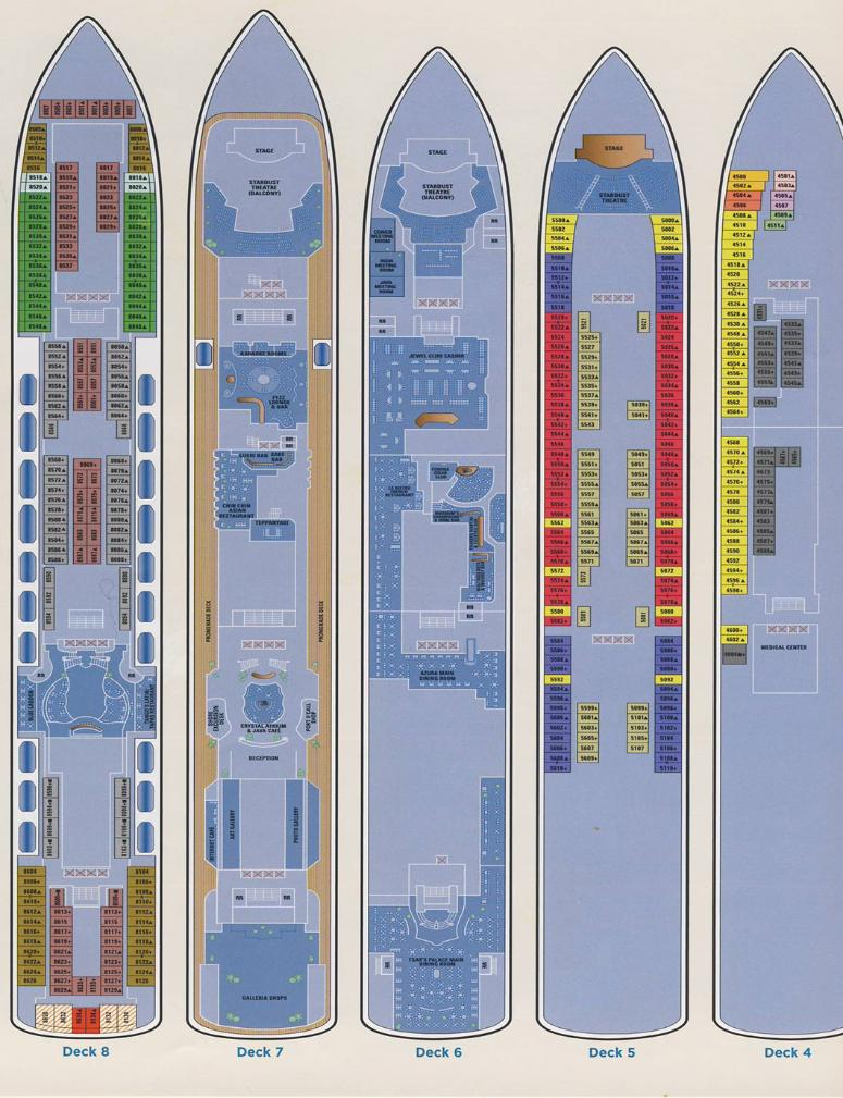 Norwegian Jewel - Deck Plan