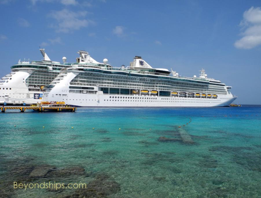Image of Royal Caribbean cruise ships Radiance of the Seas and Liberty of the Seas