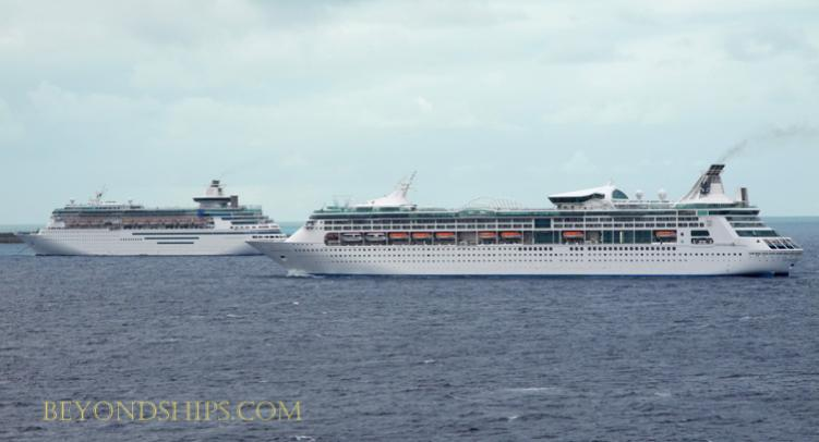 Photo of cruise ships Enchantment of the Seas and Majesty of the Seas Royal Caribbean