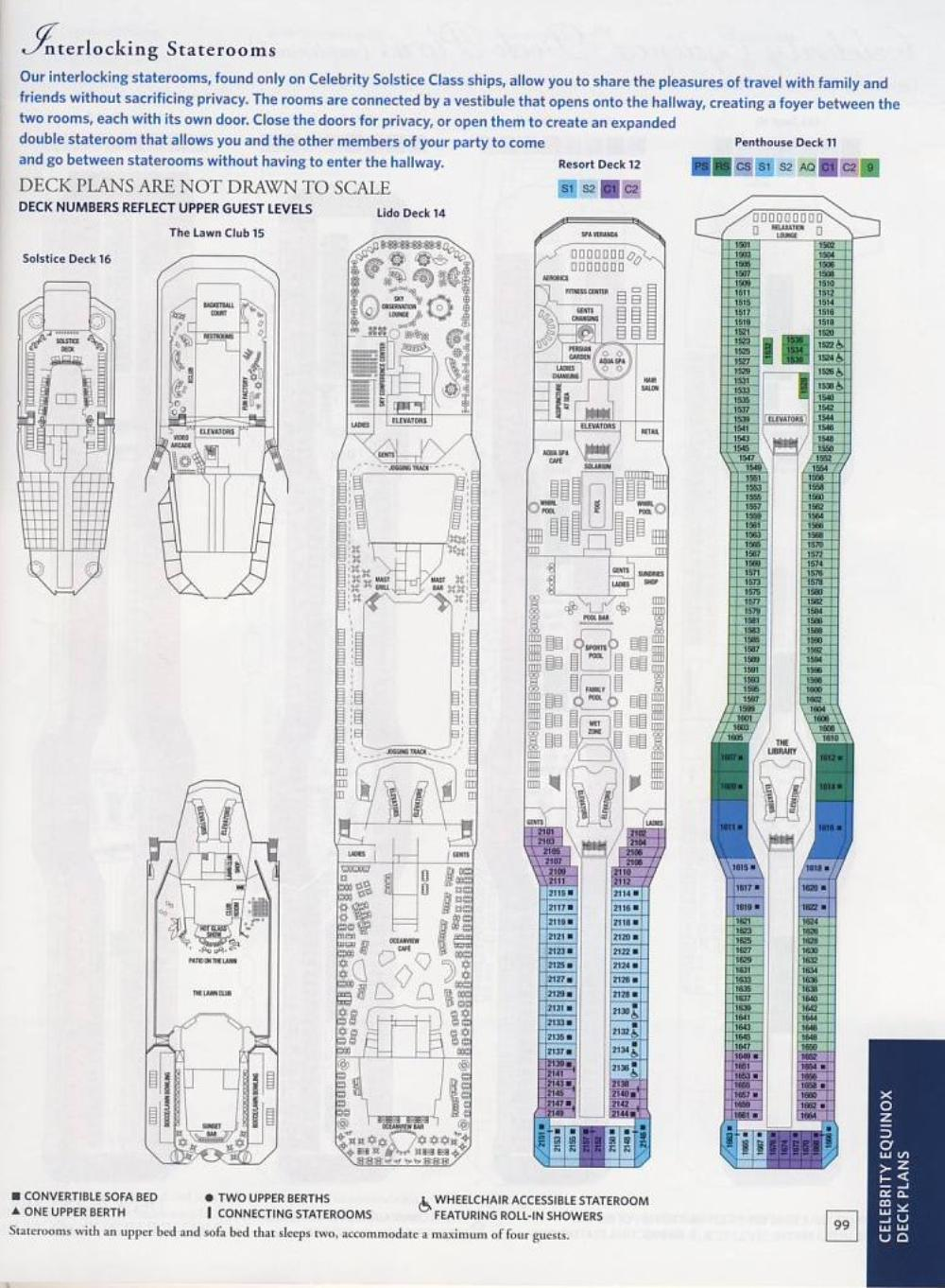 Celebrity Reflection Deck Plans, Ship Layout & Staterooms ...