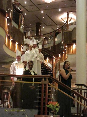 Chef's parade on Queen Mary 2