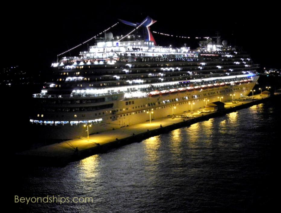 Carnival Dream of Carnival Cruise Lines at night